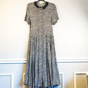 DVF VINTAGE Gorgeous Maxi Print Dress SZ 14